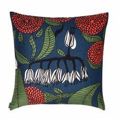 Marimekko Kaino Blue Throw Pillow  - Click to enlarge