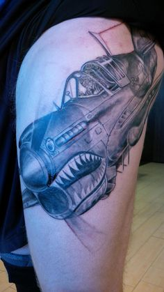 Awesome airplane tattoo