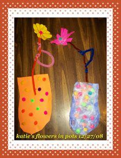 Children's vase and flower craft   TRUE BLESSINGS HOMESCHOOL