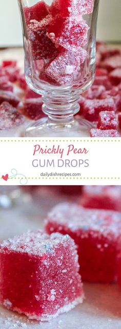 Its pretty easy to turn cactus fruit into candy, and Ill show you how to make prickly pear gum drops. Easy AND delicious! Makes a fun gift idea! Fruit Recipes, Candy Recipes, Dessert Recipes, Yummy Recipes, Recipies, Cactus Candy Recipe, Prickly Pear Recipes, Fun Desserts, Delicious Desserts