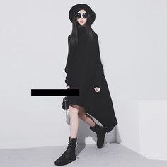 2017 Autumn and Winter New Fasion Sweater Dress Irregular Long Sweater High Collar Big Size Knitted Dress for Women
