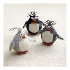cute knitted penguins