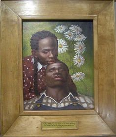 Two virgins in a field by Lawrence Finney African American Art, African Art, Black Love, Black Art, Afro Art, Over The Rainbow, Art Pictures, Photos, Amazing Art