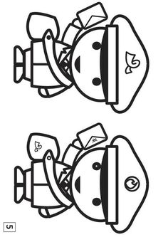 Coloring page spot the difference Community Helpers Crafts, Coloring Pages, Preschool, Messages, Learning, Special Education, Vinyls, Printables, Notebooks