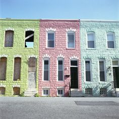 Some abandoned row houses shot by Michael Wriston.  abandoned?! but why!!