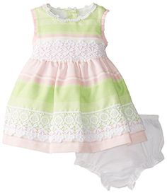 Baby Girl Newborn, Baby Baby, Baby Girls, Girls Dresses, Summer Dresses, Newborn Crochet, Easter Dress, Crochet Trim, 3 Months