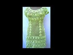 Vestidos coquetos para dama a crochet - YouTube
