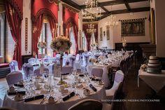 Peckforton Castle wedding photography | the dining room | Martin Hambleton Cheshire wedding photographer