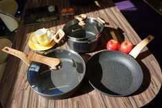 Our extra-resistant asteroid range is ideal for preparing family meals, featuring a stone-effect design complemented with adjustable bakelite handles to avoid burns and ensure security with a base that is suitable for all heat sources including induction. Pots And Pans Sets, Pan Set, Kitchenware, Family Meals, Burns, Range, Stone, Design, Rock