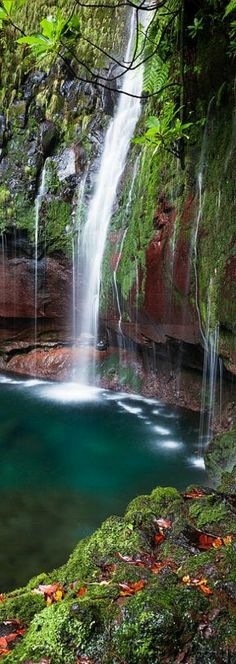 Beautiful Waterfall, Madeira Island
