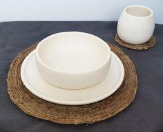 Matte Porcelain USA Made Dinnerware Set - Hammers and Heels  - 4