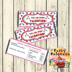 Printable Valentine's Day Candy Bar wrapper