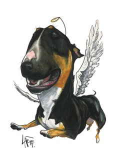 Recent Pet Portraits. Bull Terrier Tattoo, Bull Terrier Dog, English Bull Terriers, Happy Art, Cane Corso, Dog Quotes, Dog Art, Mans Best Friend, Pet Portraits