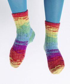 Villasukat sateenkaaren väreissä–ota ohje talteen ja neulo - Kotiliesi.fi Socks, Fashion, Moda, Fashion Styles, Sock, Stockings, Fashion Illustrations, Ankle Socks, Hosiery