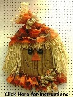 Scarecrow Head Burlap Mesh Project (when you click on it, it downloads the instructions)