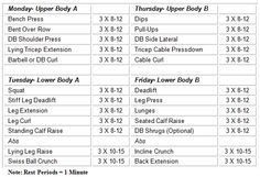 alternate lifting routine workouts