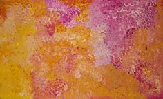 """ABORIGINAL ART PAINTING by POLLY NGALE """"BUSH PLUM DREAMING"""" 150 x 90 cm"""