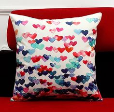 Monkeysell The new square Europe and the United States abstract Geometric patterns Digital printing pillowcase/pillow cover 18 x 18 inch Throw Pillow Covers, Pillow Cases, Throw Pillows, Decorative Items, Decorative Pillows, Heart Cushion, Fabric Squares, Digital Prints, Geometric Patterns