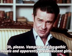 James Marster's cameo on Warehouse 13. His character had something to say about Vampires and it tickled me