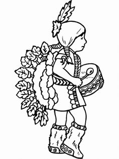 American Indian Day Coloring Pages