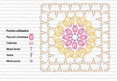 Pop Corn Granny Square Crochet