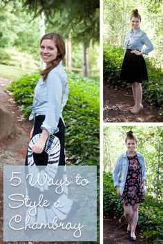 5 Ways to Style a Chambray Spring Outfits, Trendy Outfits, Winter Outfits, Cute Outfits, Fashion 2015, Fashion Beauty, Fashion Tips, Affordable Clothes, Affordable Fashion
