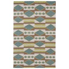 Nomad Turquoise 3 ft. 6 in. x 5 ft. 6 in. Area Rug