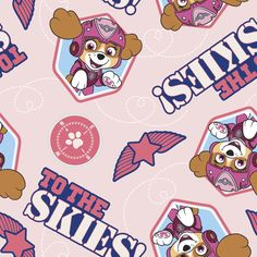 New Arrival Paw Patrol To The Sky Cotton Fabric, BTY. by JinsQualityFabric on Etsy
