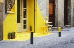 El proyecto Fos, una instalación que tiñe de color la calle