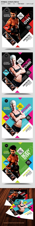 Gym / fitness flyer by satgur , via Behance