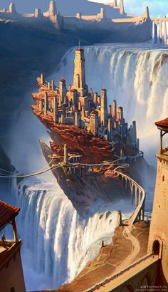 67 Fantasy and medieval buildings, cities and castles - conceptual art that inspires you . - 67 Fantasy and medieval buildings, cities and castles – concept art that inspires you - Fantasy City, Fantasy Castle, Fantasy Places, Fantasy Kunst, Fantasy World, Anime Fantasy, Fantasy Dragon, Sci Fi Fantasy, Digital Art Fantasy