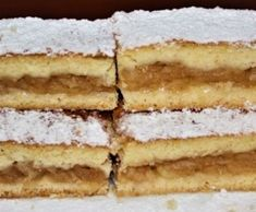 Výborný jablkový koláč Pavlova, Czech Recipes, Ethnic Recipes, New Cake, Apple Pie, Vanilla Cake, Tiramisu, Ham, Cake Recipes