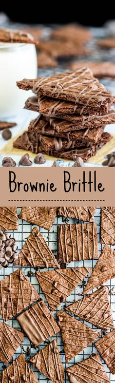 Brownie Brittle - This recipe is so easy and doesn't even need a box mix! My whole family loved it! Brownie Brittle Recipe, Brittle Recipes, Bark Recipe, Brownie Recipes, Chocolate Recipes, Cookie Recipes, Brownie Ideas, Candy Recipes, Cookies