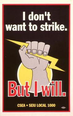 Happy Labor Day!CSEA/SEIU labor union poster
