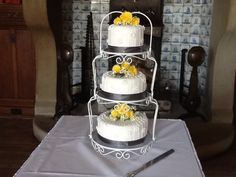 our lovely cake made by  Hundreds 'n' Thousands in Welwyn Garden City, Hertfordshire