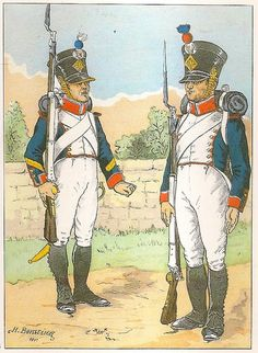 French; 8th Line Infantry, Fusilier Sergeant & Fusilier(note they are from different companies) 1813