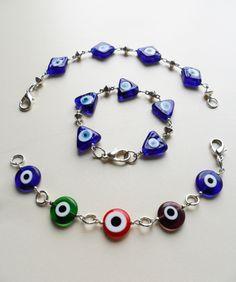 pulseras ojos turcos diseños de color beads.