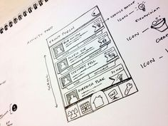 UX Sketch Activity Feed