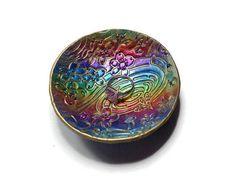Rainbow Ring Holder polymer clay Ring Dish Wedding Gift