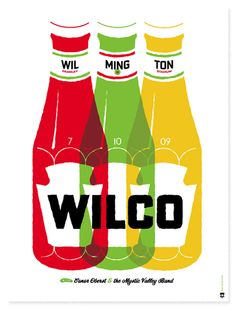 The Heads of State design // Wilco poster