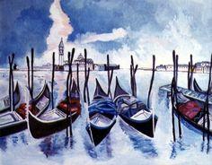 Venezia - Olio su tela - cm. 40 x 50 - Anno: 1999