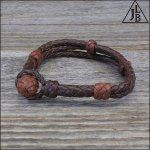 Triple Split Braid Leather Bracelet