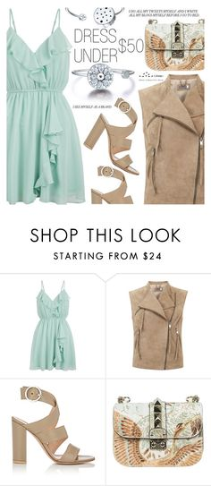 """Dress Under $50"" by totwoo ❤ liked on Polyvore featuring New Look, Mint Velvet, Gianvito Rossi and Valentino"