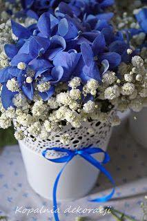 Kopalnia Dekoracji: Niebieskie dekoracje: hortensja