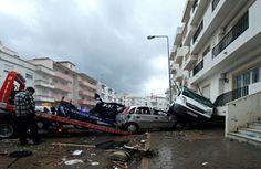 Temporal no Algarve deixa 200 pessoas sem eletricidade (com vídeo)