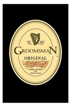 Will You Be Our Groomsman? :  wedding cancun diy groomsman Z108427 Guinness_Label-template