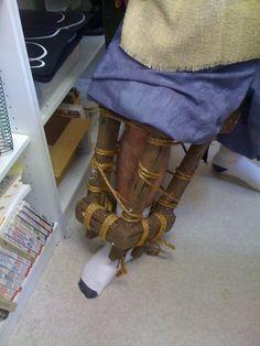 Pirate Peg Leg  http://www.halloweenforum.com/halloween-costume-ideas/102510-pirate-peg-leg.html#post1080387