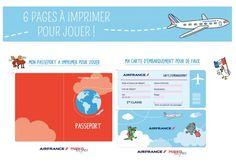 Mon passeport et ma carte d'embarquement pour de faux - Momes.net