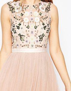 Image 3 ofNeedle & Thread Floral Frill Tulle Midi Dress