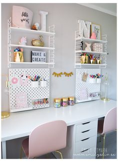 Girl Bedroom Designs, Room Ideas Bedroom, Small Room Bedroom, Bedroom Decor, Bedroom Girls, Small Rooms, Girls Bedroom Ideas Teenagers, Desk For Girls Room, Small Spaces